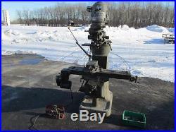 Nice Bridgeport 42 x 9 Power Feed Vertical J Head Milling Machine Model 76788