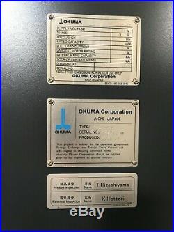 Okuma M460-VE VMC 2016, OPS-P300M Control, 32-ATC, Chip Conveyor, Coolant Tank