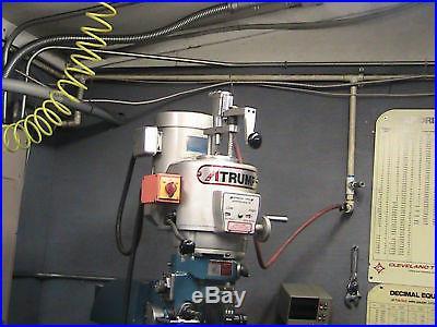 POWER DRAWBAR BRIDGEPORT MILLING MACHINE VARIABLE SPEED OR IMPORT KNEE MILL