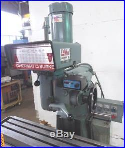 Powermatic Burke Morrison Milling machine R-8 8x36 table (30406)