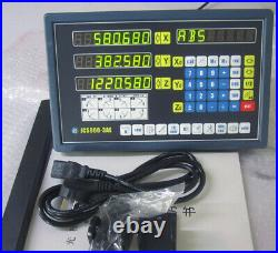Precision 3Axis 5µm Digital Readout DRO Display+3pc Linear Scale Mill Lathe Kit