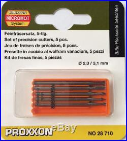 Proxxon 5pc milling cutters hss high speed steel 28710 / Direct from RDGTools