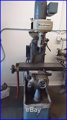 ROCKWELL MILLING MACHINE MODEL 21-120