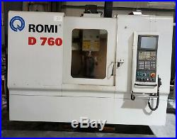 ROMI D760 CNC Vertical Machining Center, Year 2004 Mori Daewoo Okuma