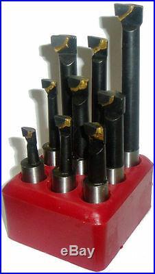 Rdg Carbide Boring Bar Set 12mm/9pc Boring Head Tools