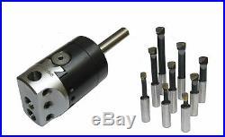 Rdg Tools 2 Boring Head 3/4 Straight Shank + 9pc Tools Milling Lathes Chuck
