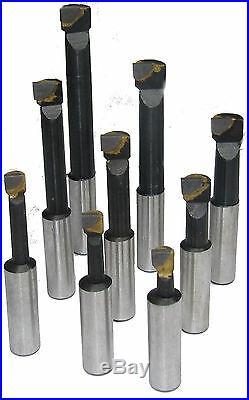 Rdg Tools 50mm Boring Head Kit 30 Int Taper Shank With 9pc 12mm Tools Milling