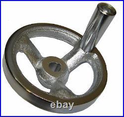 Rdgtools 100mm Machine Hand Wheel Heavy Duty Cast Steel 12mm Bore And Keyway