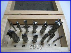 Rdgtools 12pc End MILL And Ball End MILL Set Imperial Drills Myford