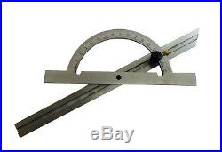 Rdgtools 150mm 300mm Engineers Adjustable Protractor Stainless Steel Myford
