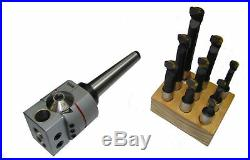 Rdgtools 3mt Silver Boring Head Kit Milling Lathe Metric + 9pc 12mm Tools