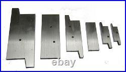 Rdgtools 6pc Adjustable Parallel Set 3/8 X 2-1/4 Height Range Milling Tools