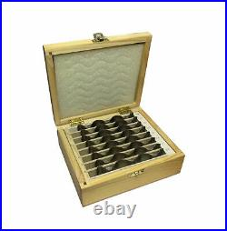 Rdgtools 8pr Wavy Parallel Set Metric 25 39mm Vice Milling Tools