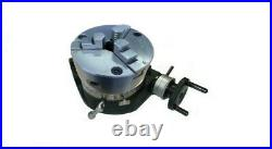 Rdgtools New 100mm / 4 Rotary Table With Aed 3 Jaw Lathe Chuck