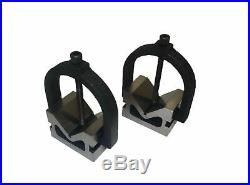Rdgtools Vee Block Set With Two Clamps 2 X 3 X 2 Matched Pair Milling