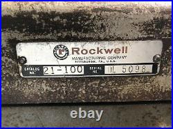 Rockwell 21-100 Vertical Milling Machine With Rare Vises Single Phase