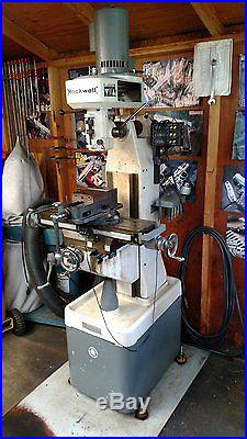 Rockwell Model 21-100 Vertical Knee Mill Milling Machine