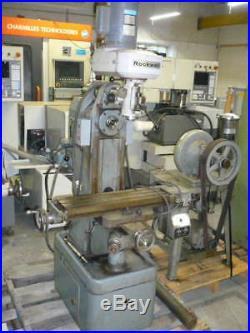 Rockwell Model 21-122 horizontal/vertical mill, milling machine, single phase