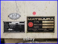 SALE! CNC VERTICAL MACHINING CENTER CNC MILL Matsuura MC-500vs
