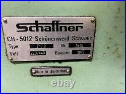 SCHAFFNER #F17.2 HORIZONTAL MILL see Video