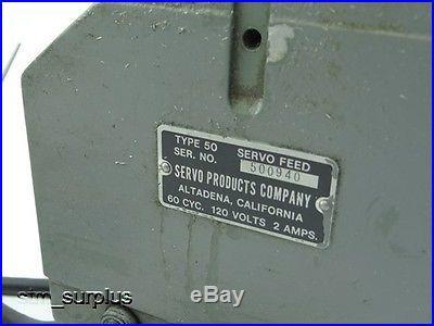SERVO POWER FEED UNIT FOR VERTICAL MILLING MACHINE BRIDGEPORT