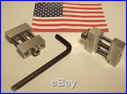 SET OF 2 MACHINE SHOP VISE STOPS FOR CNC OR MANUAL MILL VISE
