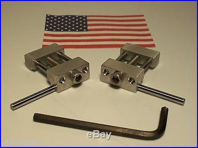 SET OF 2 MACHINE SHOP VISE STOPS MILL (1 LEFT AND 1 RIGHT) 1 INCH LOW PROFILE
