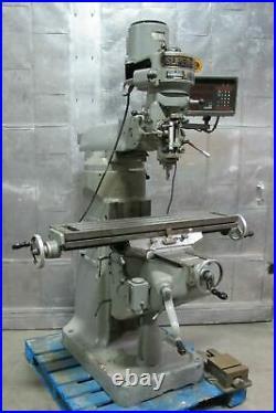 SUPERMAX YCM Vertical Mill Milling Machine 9 x 42 DRO 2 HP Bridgeport Style Nice