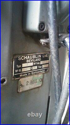 Schaublin Model 13. Precision Toolroom Milling- Swiss, world's top brand