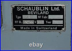Schaublin Model 13 Vertical Milling Machine (CTAM #6599)