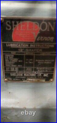 Sheldon Horizontal Shaper Mill 12 Very Good Condition