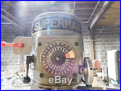 Supermax 2 HP Vertical Milling Machine 9 x 49 Table DRO & Power Feed