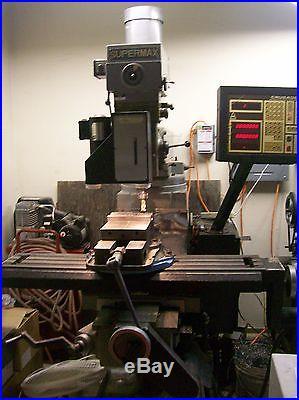Supermax CNC milling machine 3HP motor Anilam controls