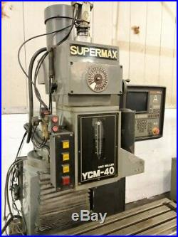 Supermax #ycm-40 Cnc MILL -3 Axis