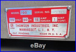 THOMSON INDUSTRIES PORTABLE ELECTRIC MILLING TABLE #100