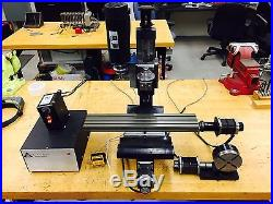 Taig Micro CNC Mill 4-Axis Long Bed 1 HP DC Motor Variable Speed with Tach
