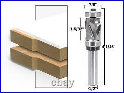 Top & Bottom Bearing Ultra Flush Trim Router Bit 1/2 Shank Yonico 33202