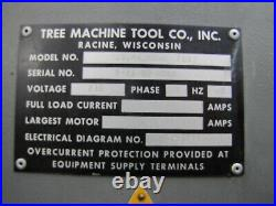 Tree Journeyman 210 Mill Vertical Milling Machine 44 table Axis AS IS