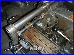USED ATLAS MFB MILLING MACHINE WORKS WELL WITH ARBOR 110V POWER TABLE FEED