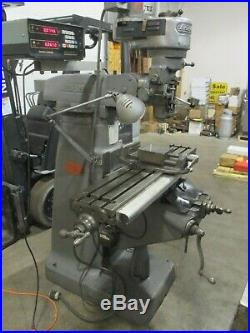 USED Bridgeport Milling Machine with Acu-Rite 2-Axis DRO, 6 Vise, Worklight