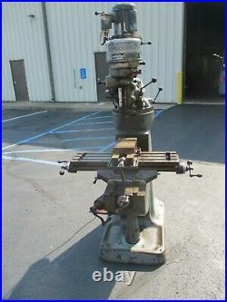 USED Bridgeport R-8 Step-Pulley Milling Machine, 115/230-Volt Single Phase