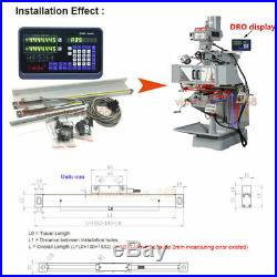 US! 3 Axis Digital Readout 6 12 24 TTL Linear Glass Scale DRO Bridgeport Mill