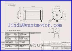 US Nema23 stepper motor 435oz+driver DQ542MA 18-50V+Power supply350w 36v