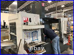 Used 2014 Haas VF-4 CNC Vertical Machining Center Mill 4th Axis Ready Chip Auger