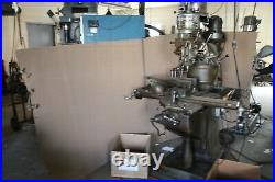 Used Bridgeport Vertical Milling Machine 2 HEADS AUTOMATIC SIDE FEED