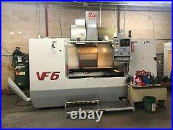 Used Haas VF-6 CNC Vertical Machining Center Mill 10,000 RPM CT40 HSM 24 ATC'01