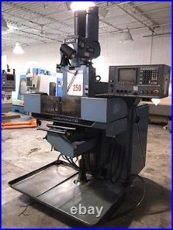 Used Lagunamatic 250S 3-Axis CNC Knee Mill Machine 1000 Dynapath Delta Control