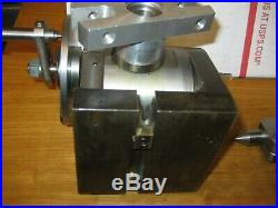 VINTAGE ATLAS MILLING MACHINE MILL ROTARY TABLE With Index PIN/ Index Head Divider