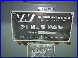 Van Norman Universal Ram Type Milling Machine