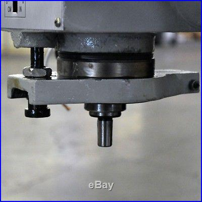 Vertical Gear Drive Head Milling Machine Power Feed DRO Mill Table